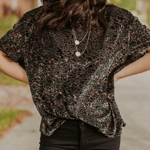 Free People | Teddy Tee in Cheetah Combo